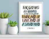 Scripture art / Bible verse / Scripture prints / Scripture wall art / scripture posters / bible verse prints / bible verse wall art