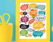 Biblical truths for teenagers 8x10 inch print / scripture wall art / scripture prints / scripture posters / bible verse prints / scripture