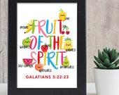 Fruit of the spirit print 8x10/ scripture wall art / scripture prints / kids bible verse print / kids scripture art