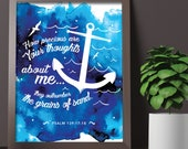 How precious are your thoughts 8x10 inch print / scripture wall art / scripture prints / scripture posters / bible verse prints / scripture