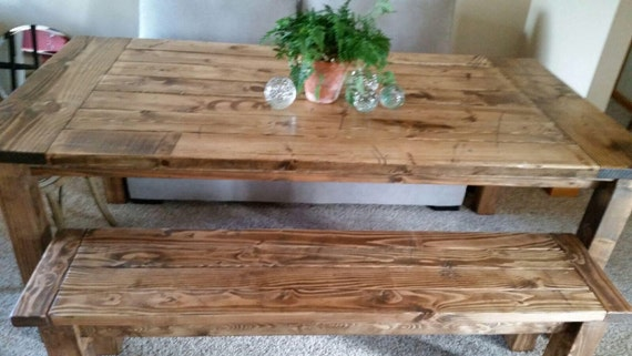 Charmant Farmhouse Table / Rustic Table / Harvest Table / 8ft Table / | Etsy