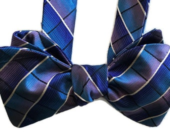 Men's Silk Bow Tie - Newport - One-of-a-Kind, Handcrafted, Self-tie - Free Shipping