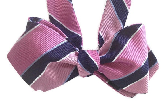 Happy Hour Silk Bow Tie  for Men Free Shipping Self-tie One-of-a-Kind Handcrafted
