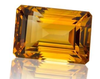 Natural Madera Citrine 23mm x 16mm Emerald Cut wholesale Lot of 1 Gemstone #PG4403