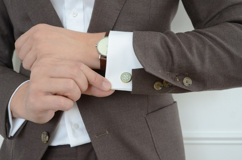 cool gifts for men Hermano de la novia las mancuernillas custom wedding silver plated or black cuff link personalized photo cufflinks