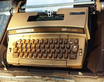 Smith Corona typewriter Super 12 for 1970's and 80's decor or parts