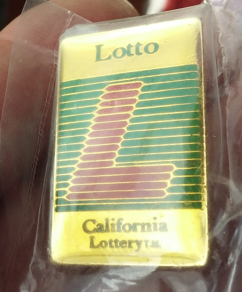 Lotto California Lottery enameled Lapel pin pre-owned