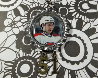 David Desharnais Bottle Cap Necklace #2 w/ #51 Charm Montreal Canadiens