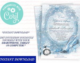 Cinderella Invitation Quinceanera