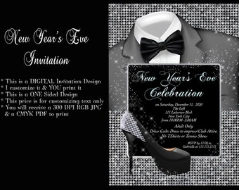 new years new years eve invitation new years invitation ao nuevo invitation new years eve new years party new years eve party