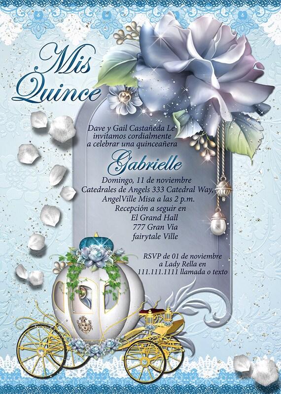Quinceañera Invitaciones Quinceanera Carruaje De Cenicienta Cenicienta Invitación Cinderbella Quinceañera Cinderbella