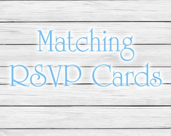Additional RSVP Cards or Reception Cards, Custom RSVP cards, Custom Cards