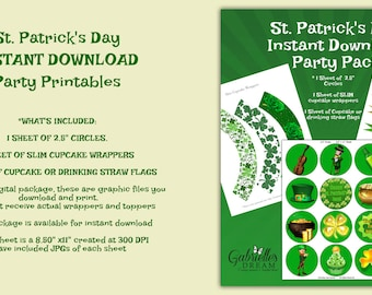 St. Patrick's Day Instant Download Party Printables, St. Patrick's Day, St. Patty's Day