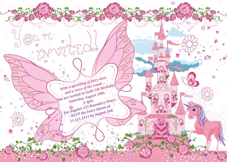 Fairy Princess Party Birthday Castle