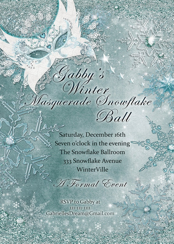 winter masquerade winter party masquerade masquerade party etsy
