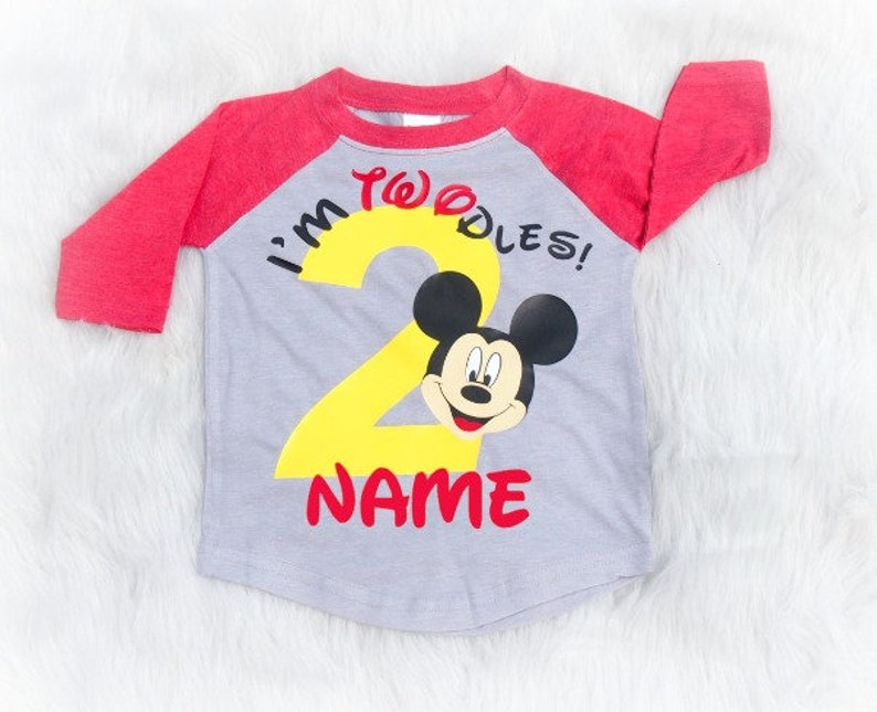 e7e745ee I'm Twodles second birthday shirt baseball tee Mickey | Etsy