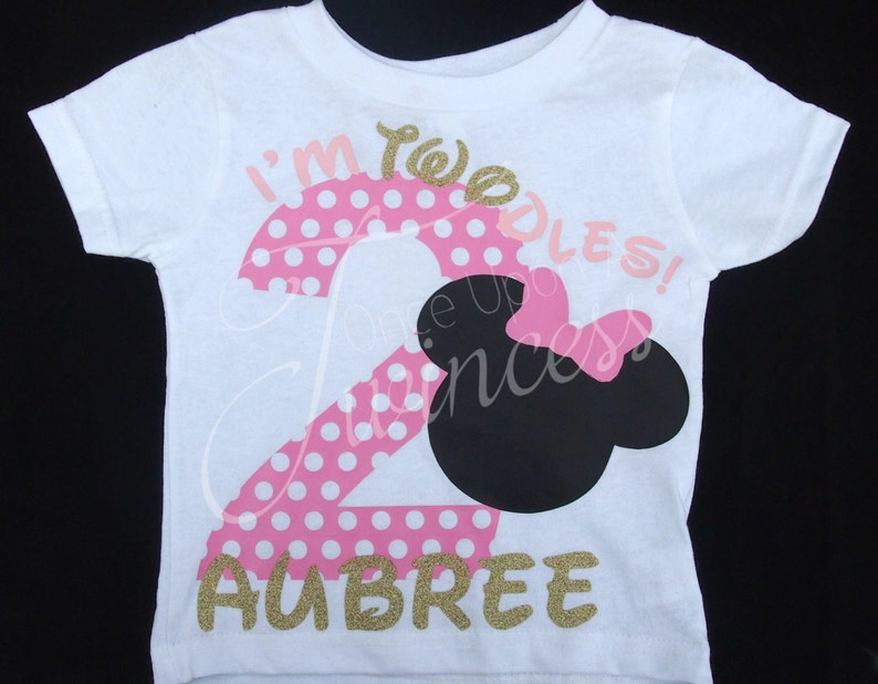 Second Birthday Shirt Im Twodles Minnie Mouse