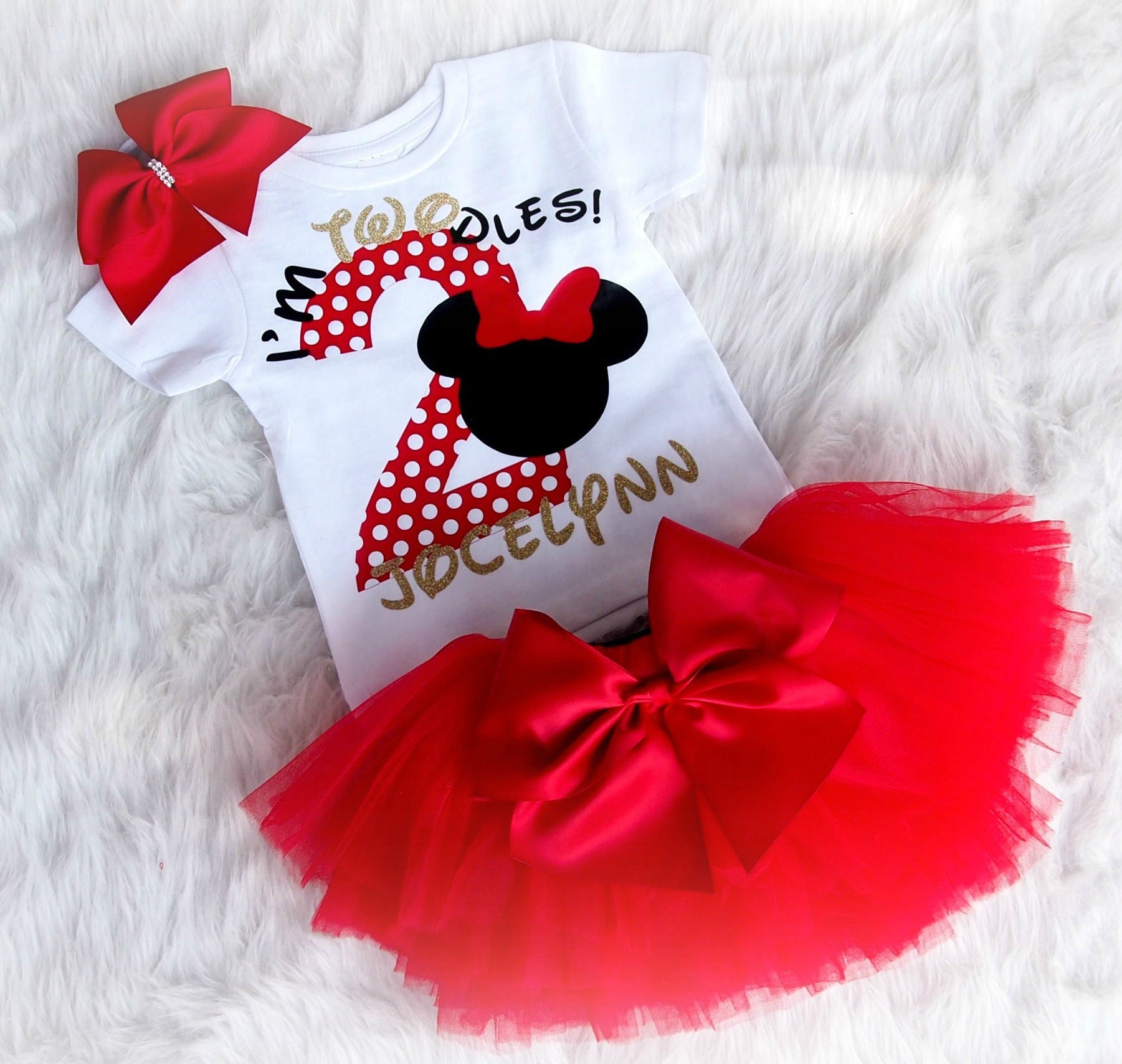Second Birthday Set Minnie Mouse 2nd Birthday Outfit