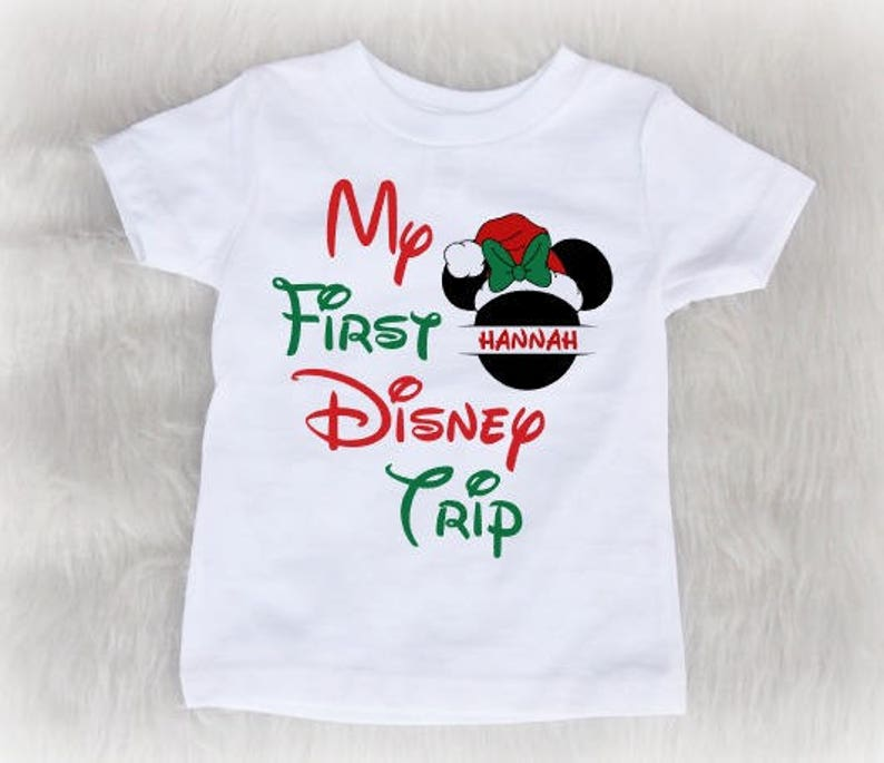 56b451f01 Christmas Disney trip shirt Christmas trip to Disney My | Etsy