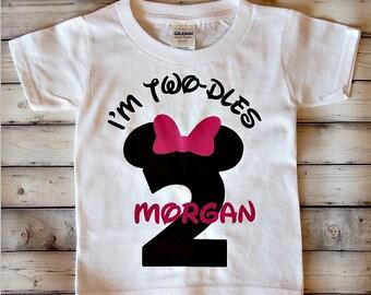 I'm Twodles Birthday Shirt - I'm Twoodles - second birthday shirt - two year old - toddler birthday - girls birthday shirt