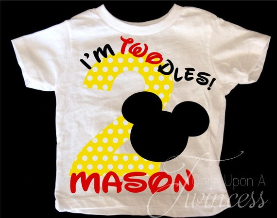 Im Twodles Birthday Shirt Mickey Mouse