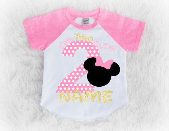 Minnie Mouse Second Birthday Shirt