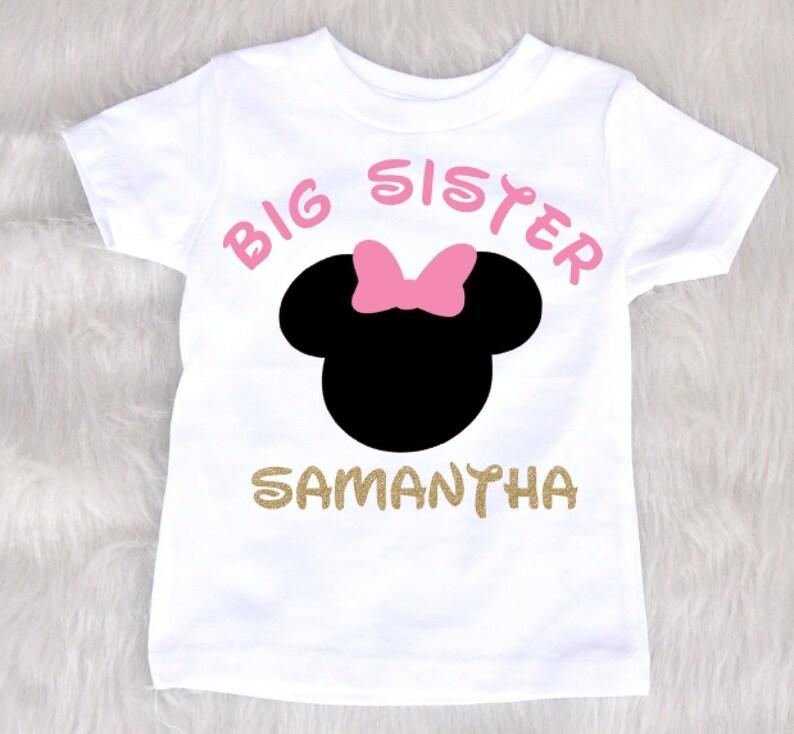 d059d260 Big Sister shirt Minnie Mouse big sister shirt pregnancy | Etsy