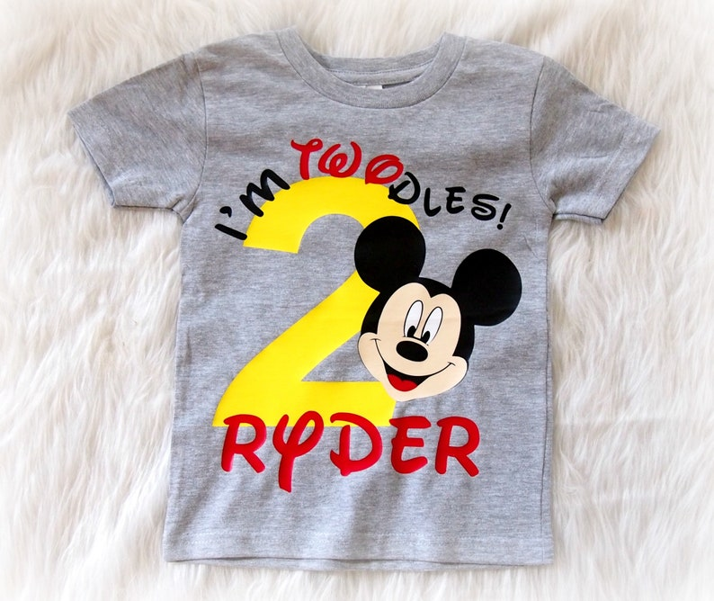Mickey Mouse Birthday Shirt Im Twodles Second