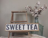 Sweet Tea Sign, Southern Sign, Southern Decor, Farmhouse Kitchen, Farmhouse Signs, Wooden Sign, Custom Wood Sign, Kitchen Sign, Framed Sign