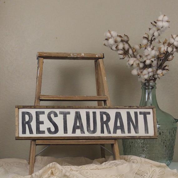 Restaurant Sign Cafe Sign Kitchen Sign Play Kitchen Sign Etsy