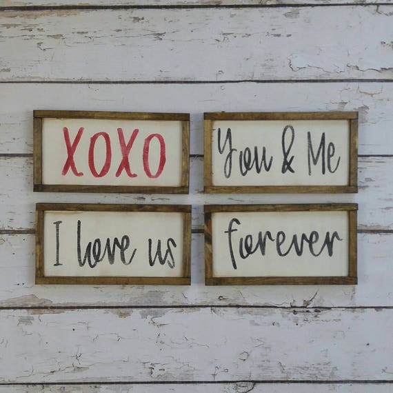 Valentines Day Decor Mini Love Signs I Love Us Forever You Etsy