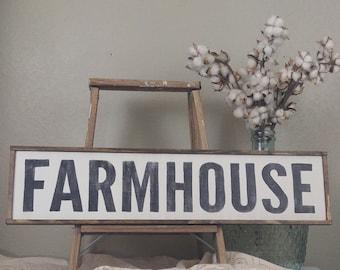 Framed Farmhouse Sign, Rustic Farmhouse Sign, Farmhouse Wall Decor