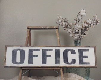 Office Sign, Farmhouse Style, Farmhouse Decor, Wood Sign, Kitchen Sign, Distressed Wood Sign, Kitchen Wall Decor, Rustic Wood Sign