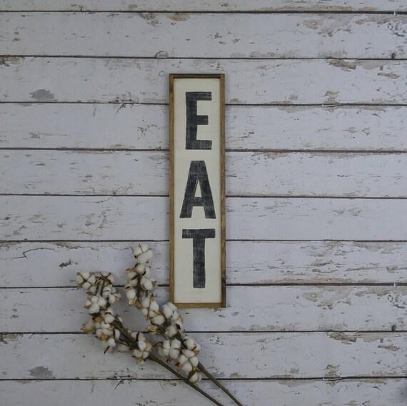 Eat Sign For Kitchen Eat Sign Vertical Eat Sign Wood Custom | Etsy