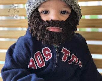 Baby beard beanie (Baby beard hat) (beard beanie) Customizable colors! 2383011d358