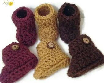 42 colors available! Preemie booties (newborn booties) (baby booties) (baby boots)