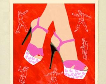 Framed Giclée Fine Art Print, All She Wants to Do is Dance
