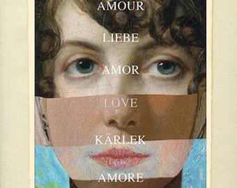 Framed Giclée Fine Art Print, Love