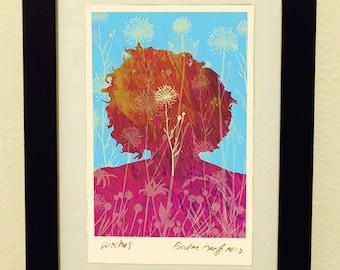 Framed Giclée Fine Art Print, Wishes