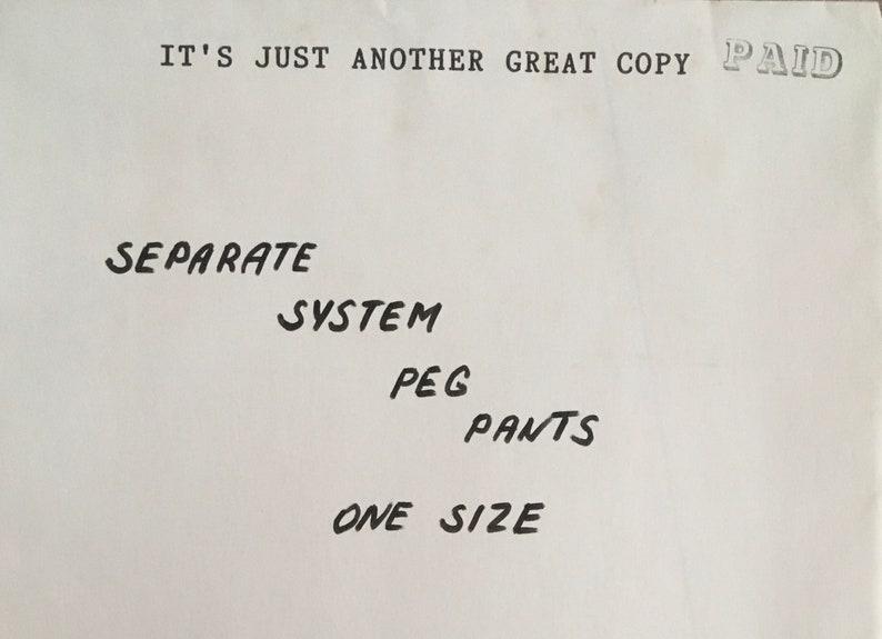 Vintage UNCUT Separate System Pattern
