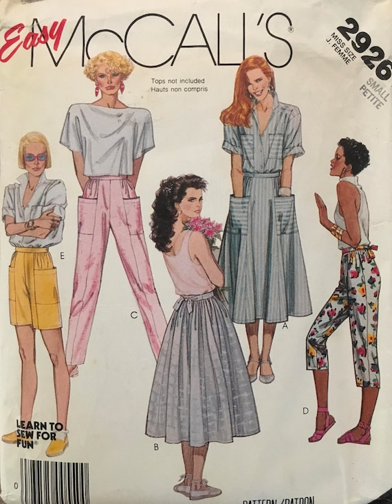 9209c148e4dbe McCall's 2926 Sewing Pattern Vintage | Etsy