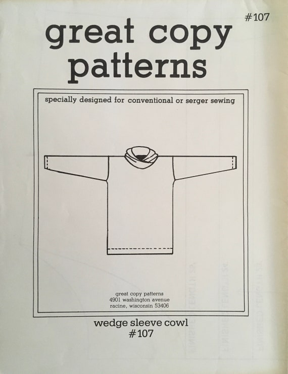 Great Copy 107 Sewing Pattern Vintage Uncut Etsy