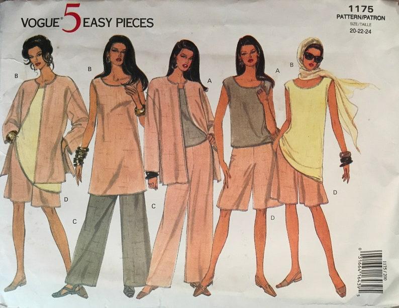 Vogue 1175 Sewing Pattern Vintage UNCUT image 0