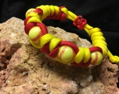 Handmade (USA)Adjustable Softball Paracord bracelet