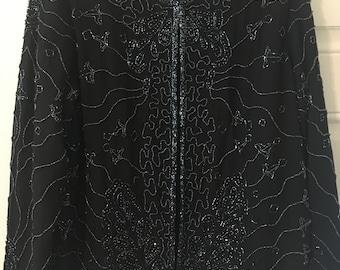 Black Sequins Jacket by JMD
