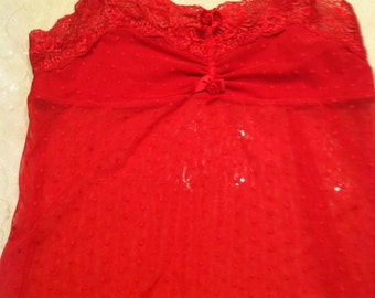 Red Lace Camisole