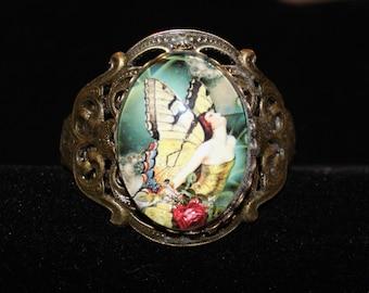 Butterfly Woman Cuff Bracelet