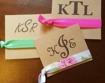 Monogram Tie cards