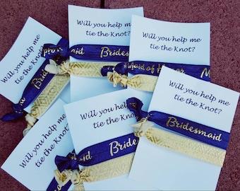 Bridesmaid custom tie cards