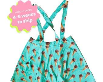 mint chocolate ice cream suspender skirt XS - 5XL  